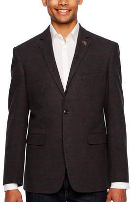 U.S. Polo Assn. Gray Purple Windowpane Classic Fit Sport Coat