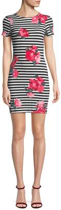 French Connection Women's Floral and Stripe Mini Dress