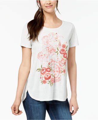Style&Co. Style & Co Petite Puff-Print T-Shirt
