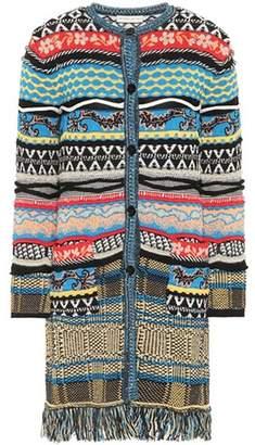 Etro Striped cotton-blend cardigan