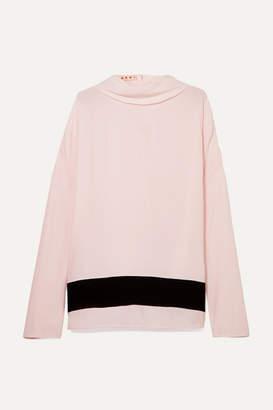 Marni - Striped Crepe De Chine Blouse - Pastel pink