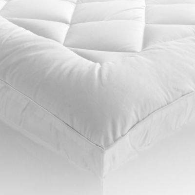 St. James Home 400-Thread Count Ultra King Mattress Pad with Gusset in White