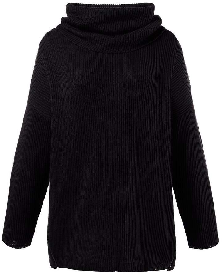 Pullover, abnehmbarer Rollkragen schwarz NEU