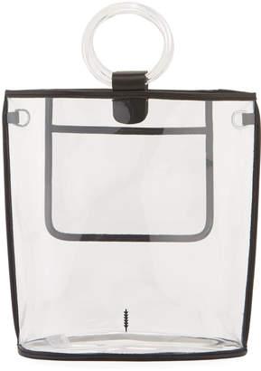 THACKER Peekaboo Clear Ring-Handle Tote Bag