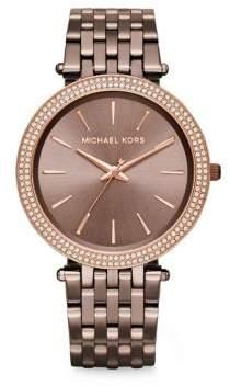 Michael Kors Darci Pave Sable IP Stainless Steel Bracelet Watch