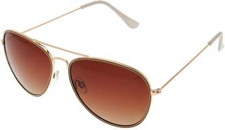 Halston H By H by Polarized Aviator Sunglasses w/ Two Tone Frame