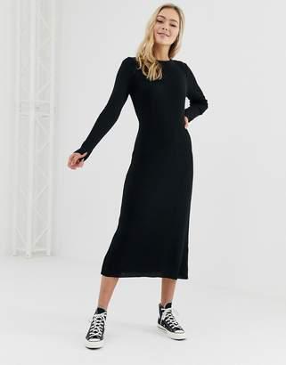 Asos Design DESIGN rib knit a-line midi dress