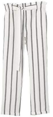 MANGO Linen high-waist trousers