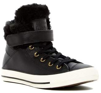 Converse Chuck Taylor All Star Faux Fur Lined Leather High Top Sneaker (Women)