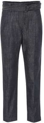 Brunello Cucinelli Belted high-rise straight jeans