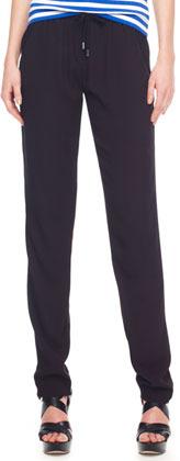 MICHAEL Michael Kors Drawstring Crepe Pants