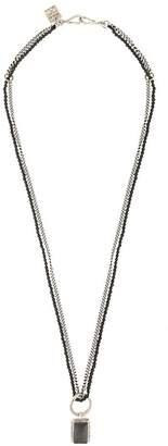 Goti double chain pendant necklace