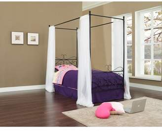 Powell Canopy Wrought Iron Princess Bed, Multiple Colors
