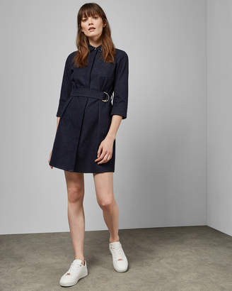 Ted Baker SALAT Collar detail denim shirt dress
