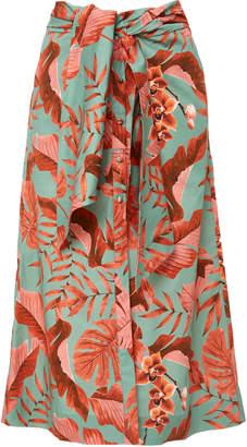 Johanna Ortiz M'O Exclusive Rio Marañon Stretch Cotton Poplin Skirt