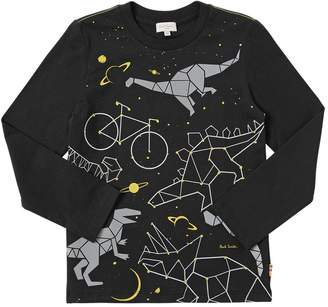 Paul Smith Dino Cosmo Print Cotton Jersey T-Shirt