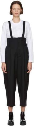 Noir Kei Ninomiya Black Raised Suspender Trousers