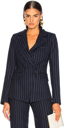 Jonathan Simkhai Pinstriped Fitted Blazer