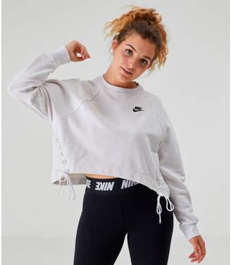 Nike Women's Sportswear Essential Tie Side Fleece Crew Sweatshirt