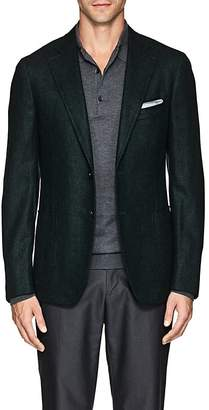 Isaia Men's Cortina Wool-Blend Hopsack Two-Button Sportcoat