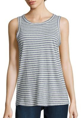 Current/Elliott Striped Muscle Tee $128 thestylecure.com