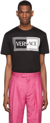 Versace Black 90s Vintage Logo Slim Fit T-Shirt