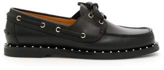 Valentino Rockstud Boat Shoes