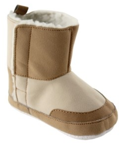 Baby Vision Luvable Friends Baby Faux Suede Winter Boots, Tan, 6-12 Months