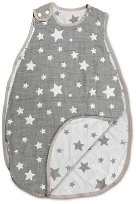 Living Textiles Co. Muslin Jacquard Wearable Blanket, Grey Stars