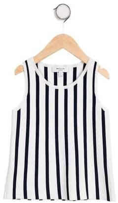 Milly Minis Girls' Striped Sleeveless Top