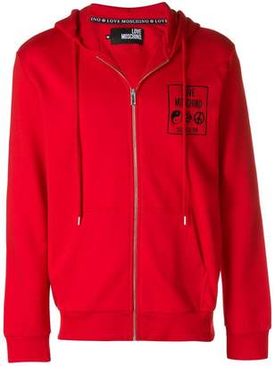 Love Moschino full-zipped hoodie
