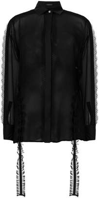 Versace lace embellished shirt