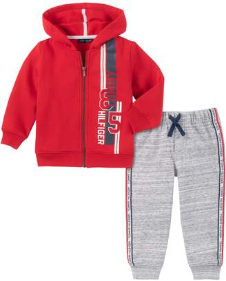Tommy Hilfiger Baby Boy's 2-Piece Cotton-Blend Fleece Hoodie Jogger Pants Set
