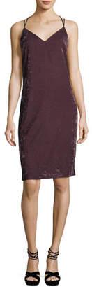 Splendid Sleeveless V-Neck Crushed Velvet Camisole Dress