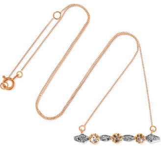 Pascale Monvoisin Adele 9-karat Gold, Sterling Silver And Diamond Necklace