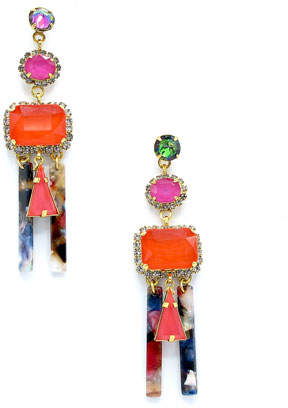 1a5687db6 Elizabeth Cole Cadee Mixed-Cut Dangle Earrings