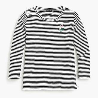 J.Crew X Abigail Borg embroidered T-shirt