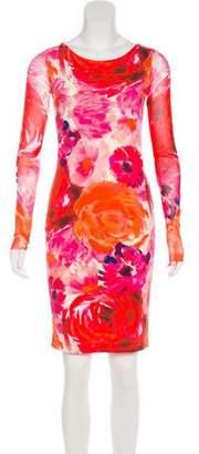 Fuzzi Printed Bodycon Dress