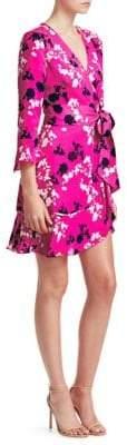 Tanya Taylor Camo Wrap Dress