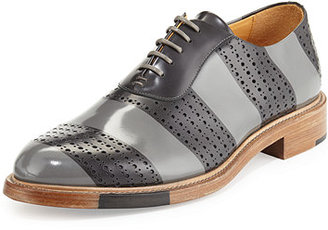 The Office of Mister Scott Perforated Brush-Off Leather Oxford $495 thestylecure.com