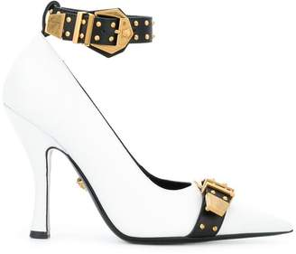 Versace buckle strap pumps