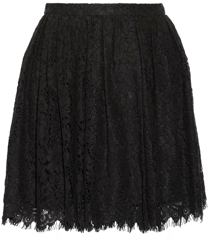 IRO IRO Izia pleated guipure lace mini skirt