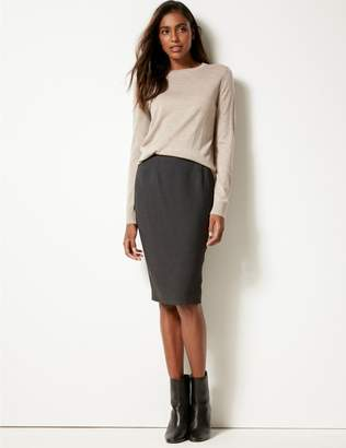 Marks and Spencer Textured Pencil Skirt