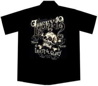Lucky Brand Lucky 13 Skull and Cross Bones Work Shirt, Ye Olde (L, )