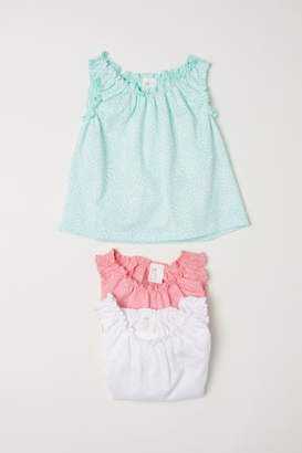 H&M 3-pack Sleeveless Tops - Green