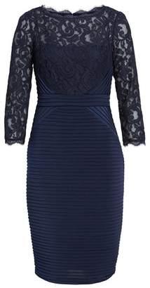 Adrianna Papell Lace & Jersey Sheath Dress