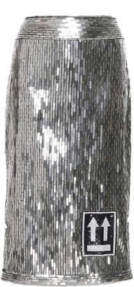 Sequin Embellished Pencil Skirt