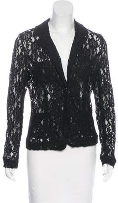 Alexander Wang Lace Notch-Lapel Blazer
