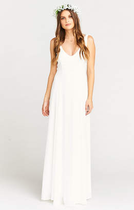 Show Me Your Mumu Jenn Maxi Dress ~ Ivory Crisp