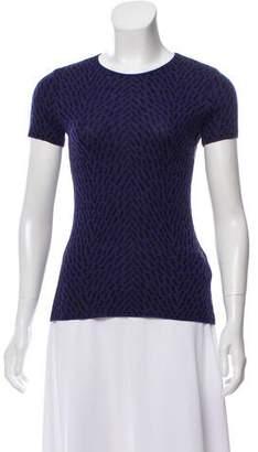 Armani Collezioni Wool Patterned Top